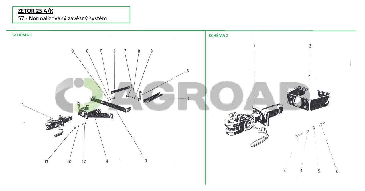 Horni Zaves Pro Zetor 25 Agroad