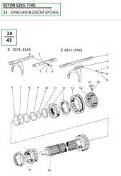 24-Synchronizační spojka