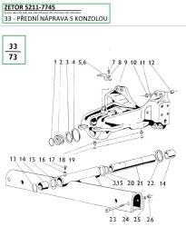 33-Přední náprava s konzolou