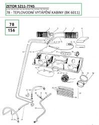 78-Teplovodní vytápění kabiny (BK6011)