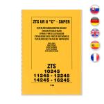Katalog náhradních dílů - ZTS UŘ II 'C' - Super 10245 11245 12245 14245 16245