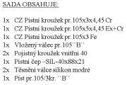 "CZPK Sada úplného válce pr.105/3kr ""B"" UŘIII EUROI.m.1003,1203,1303,1403,2013"
