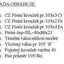 CZPK Sada úplného válce pr.105/3kr. PRXplus 80,90,100,110motory 1006, 1106, 1206, 1306, 1406, 1506, 7206