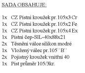 CZPK Sada úplného válce pr.105/3kr. EURO 4
