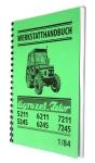 Dílenská příručka pro Zetor 5211-7245 v Německém jazyce