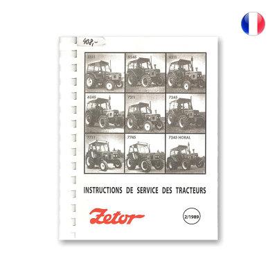 Návod k obsluze ve francouzském jazyce pro Zetor 5211-7745