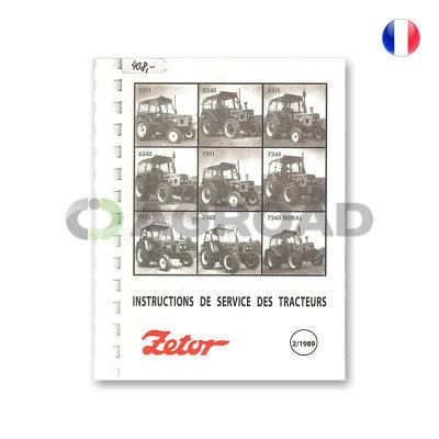Návod k obsluze ve francouzském jazyce pro Zetor 5211-7745 / Instructions deservice des tracteurs