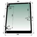 Okno boční PRAVÉ pro New Holland TL70, TL80, TL90, TL100, TL110,Case JXU a MXM
