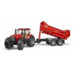 Bruder CaseIH Optum 300 CVX Traktor s přívěsem Krampe (1:16)