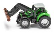 Traktor Siku s drapákem na klády (1:87)