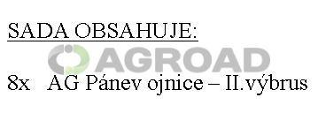 AG Sada ojničních ložisek - II.výbrus (UŘI),(5501-0398 - 8ks)