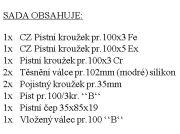 "CZPK Sada úplného válce pr. 100/3kr. ""B"" bílá krabice"