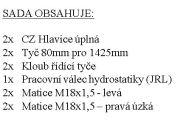 Pracovní válec hydrostatiky kompletní včetně kloubů 1425 mm