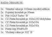 "CZPK Sada úplného válce pr.102/3kr pro Zetor ""B"" Turbo bílá krabice"