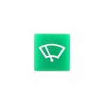 Symbol / víčko zelené pro stěrače