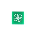 Symbol / víčko zelené pro ventilátor