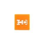 Symbol / víčko oranžové pro přední PTO O