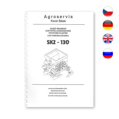 Katalog náhradních dílů pro Sazeč brambor SK2-130