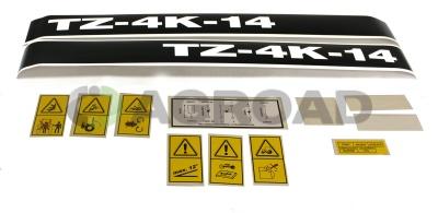 Sada nápisů TZ4K-14 kompletní