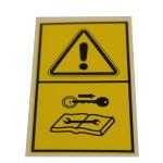 Štítek Výstraha - Při opravách vyjmout klíč