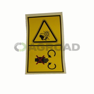Štítek Výstraha - Rotující části ventilátor